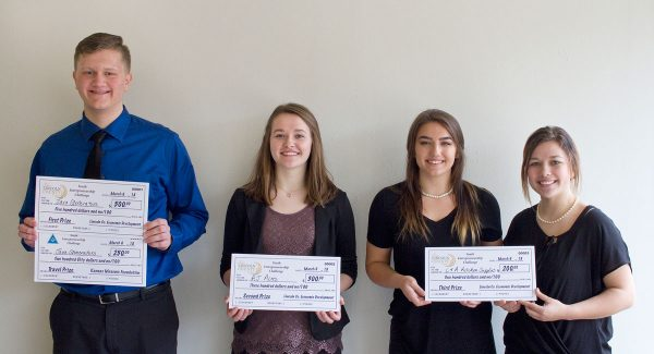 Winners of the first Lincoln County Youth Entrepreneurship Challenge March 6, 2018