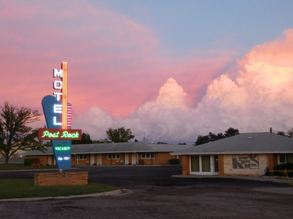 Post Rock Motel, Lincoln, KS, fully restored neon sign
